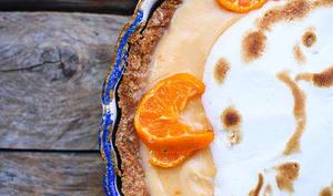 Tarte à la mandarine meringuée