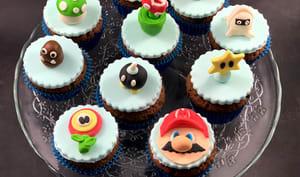 Cupcakes au chocolat Super Mario