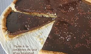 Tarte à la confiture de lait et au chocolat