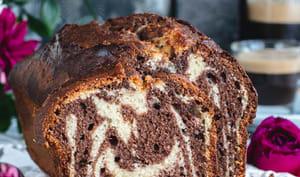 Gâteau marbré chocolat et vanille