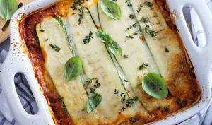 Lasagnes aux courgettes et saumon