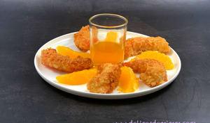 Crevettes croustillantes au caramel d'orange