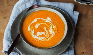 Potage Crécy, à la carotte et au riz