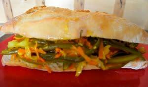 Sandwich Achards réunionnais