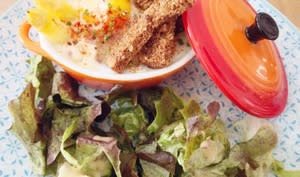 Oeuf cocotte aux asperges blanches