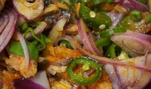 Salade sardines gros piment de la Réunion