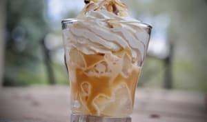 Verrine poire caramel et crème au mascarpone