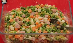 Salade printanière au jambon