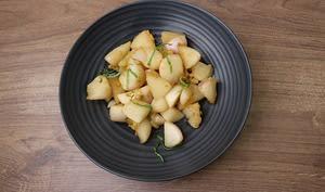 Navets nouveaux sautés au gingembre te sauce soja