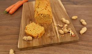 Gâteau moelleux carotte et cacahuète
