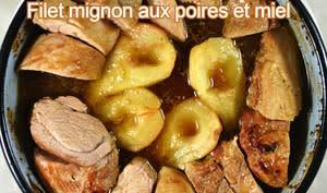 Filet mignon aux poires et miel