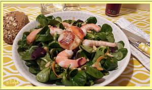 Salade de mâche de la mer