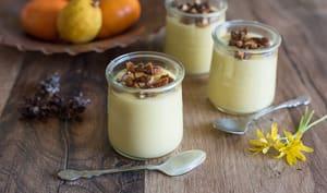 Crème dessert citron et amandes caramélisées