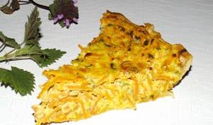 Tarte aux carottes râpées et aux 2 orties