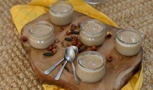 Petits pots de crème dessert noisette tonka