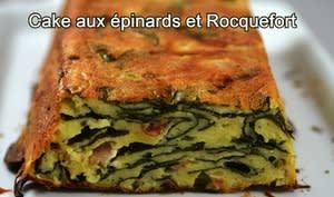 Cake aux épinards et Roquefort sans lait de vache