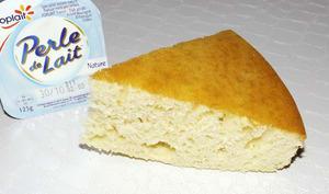 Gâteau au perle de lait et à la vanille