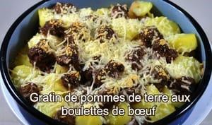 Gratin de pommes de terre aux boulettes de bœuf