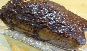 Gâteau marbré, glaçage praliné