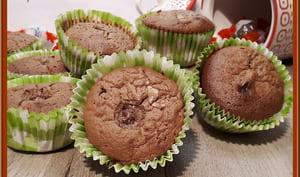Muffins brownie au chocolat et schokobons
