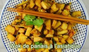 Wok de panais à l'asiatique