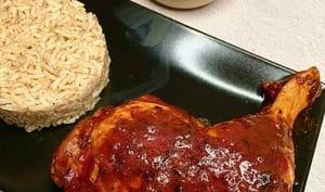Cuisse de poulet antillaise sauce chien