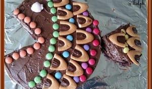 Gâteau au chocolat en forme de poisson