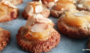 Biscuits aux amandes et marmelade pommes coings
