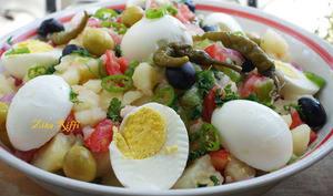 Salade de pommes de terre aux oeufs durs