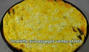 Omelette asperges vertes feta cuite au four