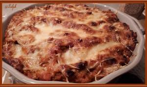 Gratin de pâtes au thon et tomate