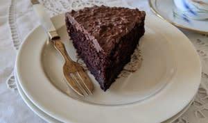 Gâteau au chocolat, ganache pralinée