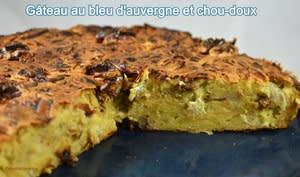 Gâteau au bleu d'Auvergne et chou-doux