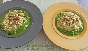 Risotto aux blettes et son coulis vert