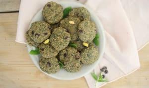 Biscuits menthe pistache chocolat
