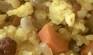 Riz, lentilles corail et carotte au curcuma