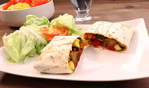 Burritos aux légumes et poulet