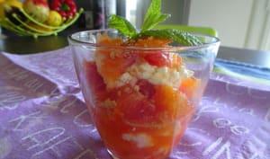 Salade d'oranges sanguines au mascarpone