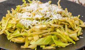 Salade de chou à la noix de coco