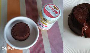 Mi-cuit au chocolat et au miso