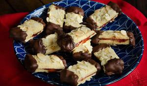 Bâtonnets amandes chocolat