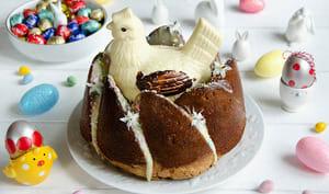Bundt cake vanille et fraises