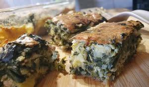 Gâteau vert aux légumes