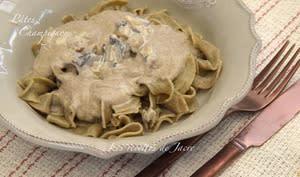 Pâtes à la crème de champignons