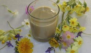 Crème dessert aux fleurs sauvages