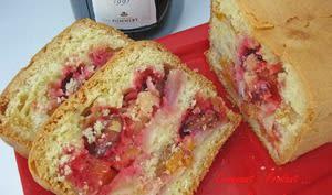 Cake rose aux poires