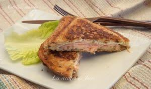 Croque saumon croustillant