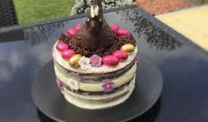 Naked cake vanille chocolat