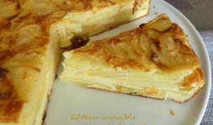 Gâteau invisible aux pommes de terre