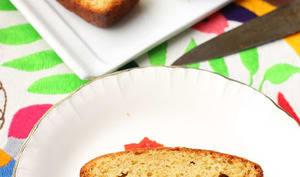 Cake au massepain et au citron confit au sel